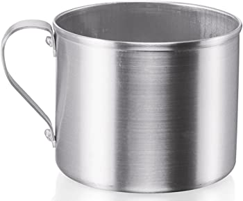 Imusa USA R200-12W 0.75-Quart Aluminum Mug for Stovetop Use or Camping