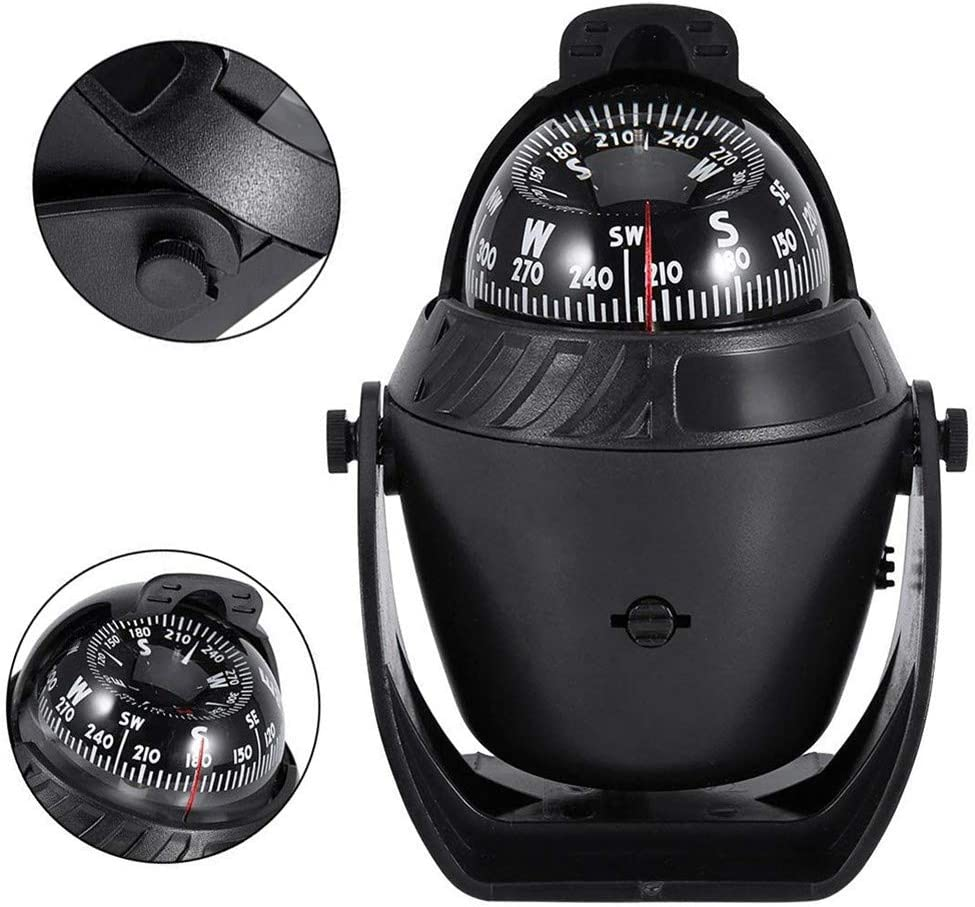 CT-CARID LED Light Pivoting Compass Navigation Electronic Compass for Marine Boat Car Boat Compass