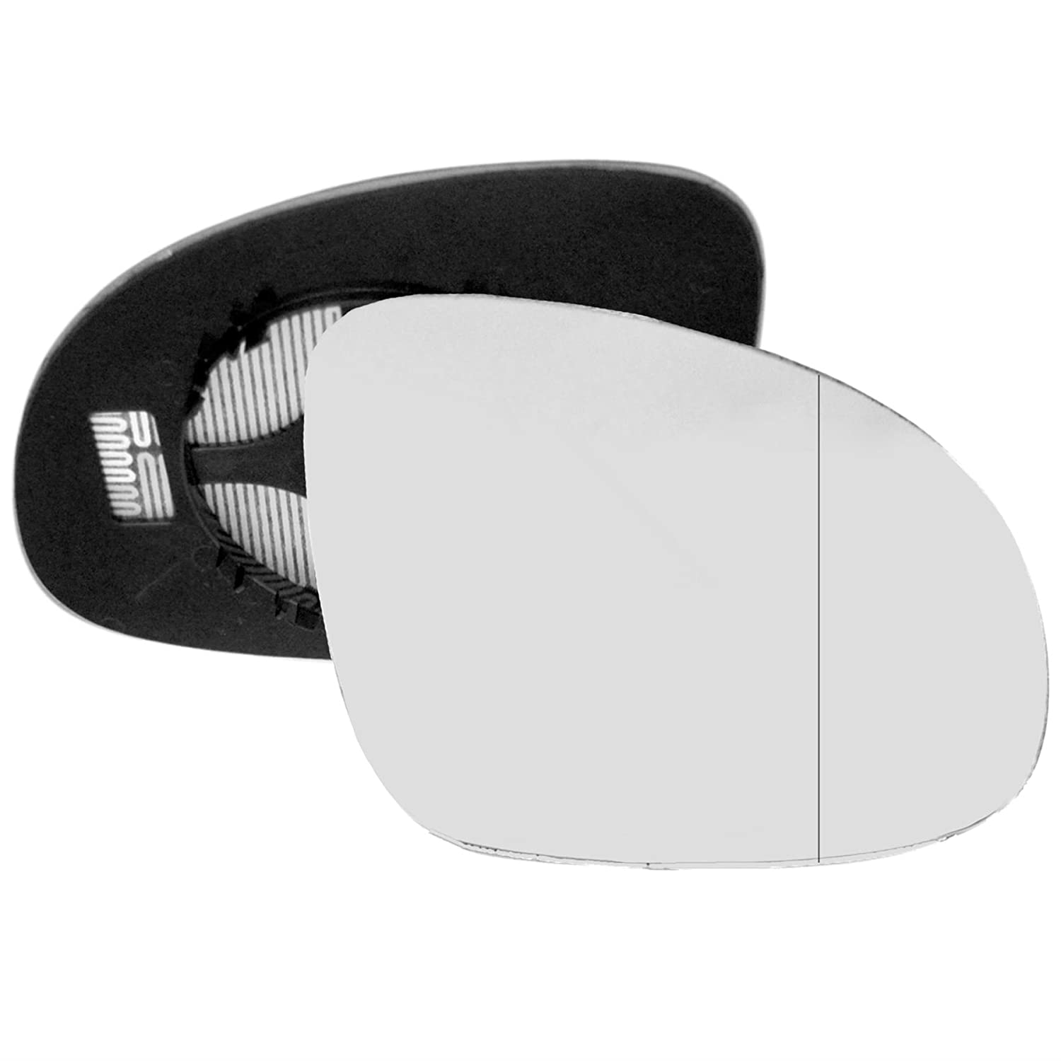 Driver right hand side wing door mirror convex glass heated with backing plate Sylgab