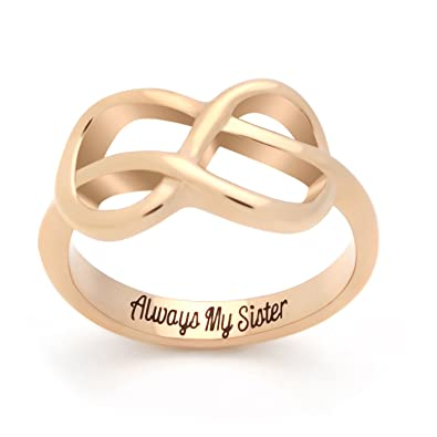 Sister Ring Infinity Ring Promise Ring For Sister Infinity Symbol