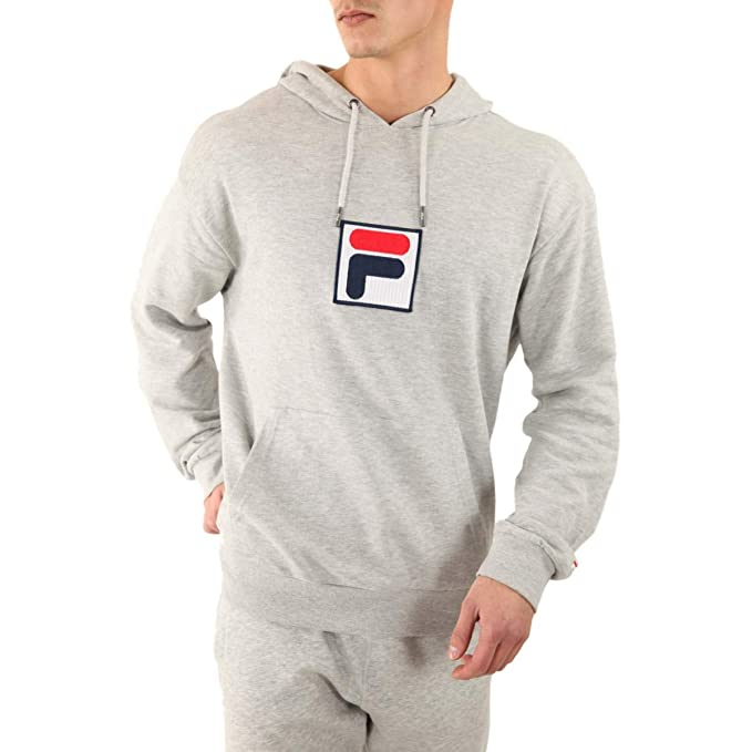 133f8b1fbe13 Fila Men Hoodie Shawn, Size:M, Color:Light Grey Melange bros: Amazon.co.uk:  Clothing