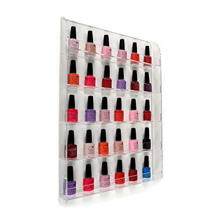 Wondrous Wall Mounted Nail Varnish 5 Tier Display Made In The Uk Interior Design Ideas Tzicisoteloinfo