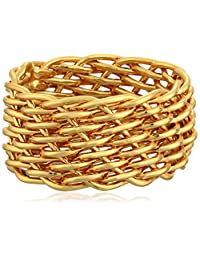 Gold Plated Sterling Silver Mesh Band Ring