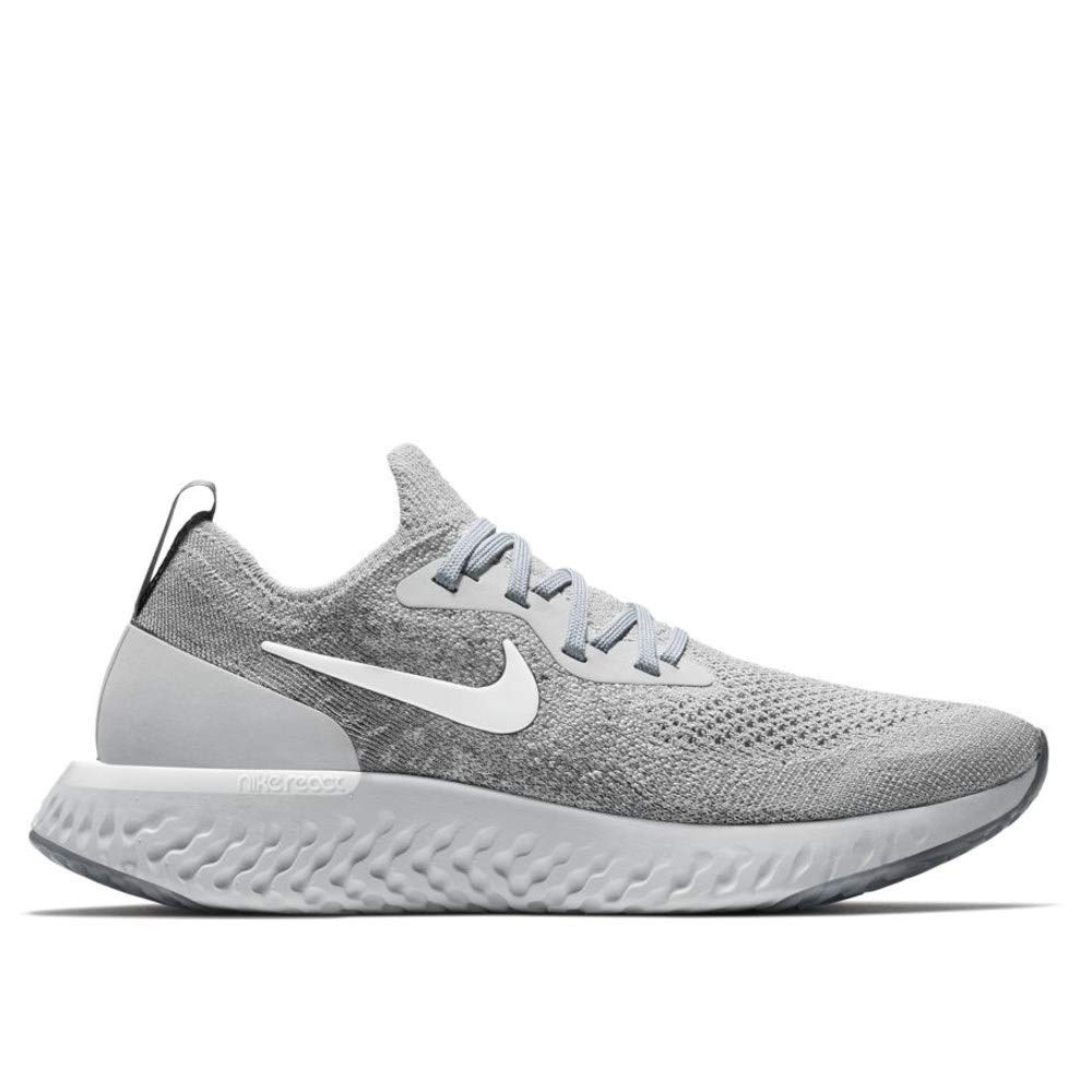 newest 22ea5 09fd4 Galleon - Nike Women s Epic React Flyknit Running Shoes (9, Grey White)