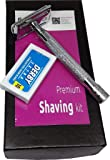Tips & Toes Double Edge Safety Razor Plus 10 DERBY Blades,Stainless Steel -Sleek Design Handle - Mirror Finish