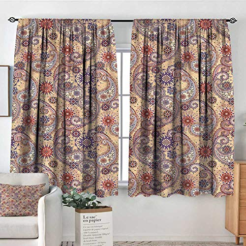 (Anzhutwelve Paisley,Curtains for Bedroom Persian Ottoman Culture 104