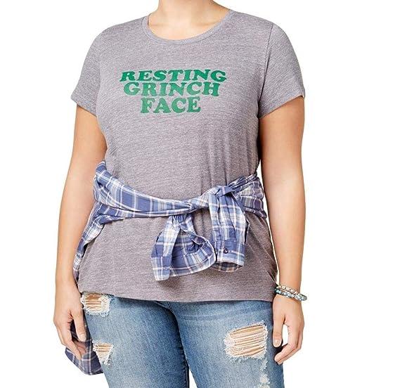 bcfc7fb5e036ca Amazon.com: Suburban Riot Womens Plus Casual Printed Graphic T-Shirt ...