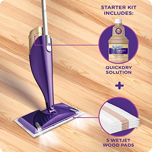 Wetjet Wet Mops Wood Floor Spray Starter Kit 37000765615