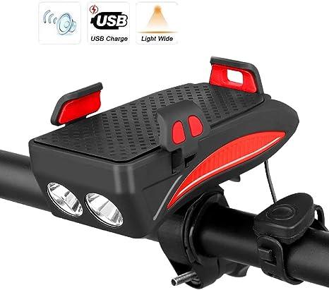 LASTL Mejora De La Luz De Bicicleta LED con Fuerte Bocina De ...