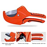 AIRAJ PVC Cutter 2-1/2 in, Ratchet-type Pipe Cutter for Cutting PVC PPR Plastic Hoses and Plumbing Pipes Suitable for Electrician and Woodworking Tools