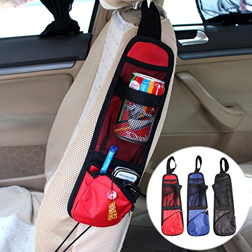 Cllena Car Seat Side Organizer, Multi-Pocket Travel Storage Bag for Vehicles, Cooler with Cell Phone Sun Glasses Tissue Holder (Side Seat Bags)