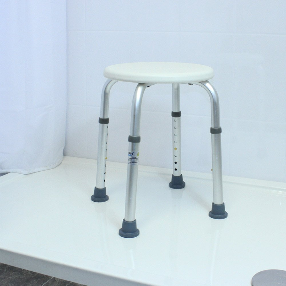 NRS Healthcare Round Shower Stool L97718 Height Adjustable (Eligible ...