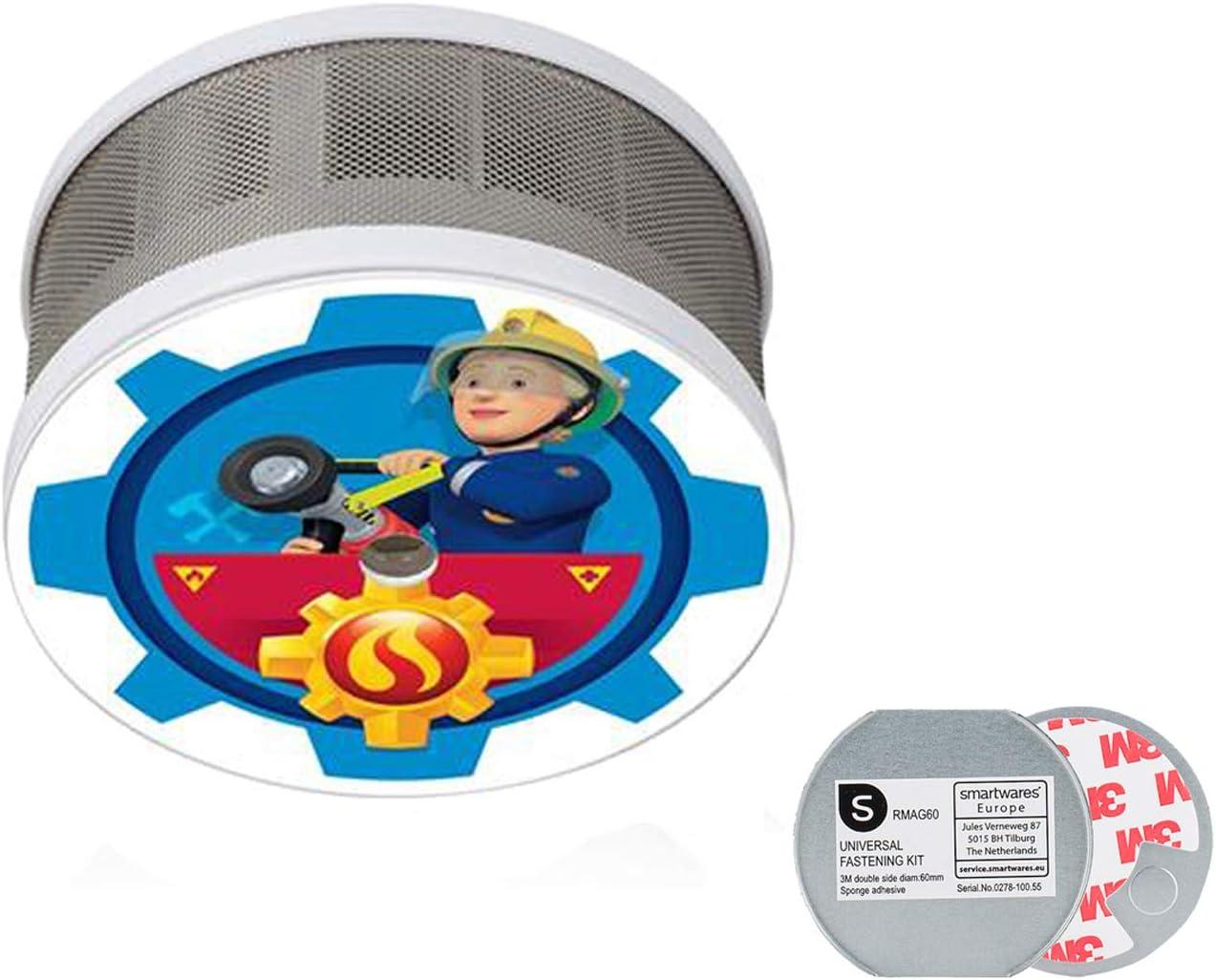 Minirauchwarnmelder Pompier Sam Motif Penny Feu Protection pour la chambre des enfants