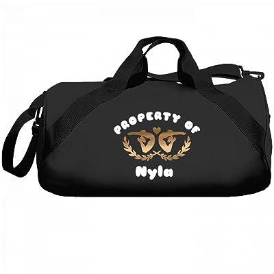 Gymnastics Property Of Nyla: Liberty Barrel Duffel Bag