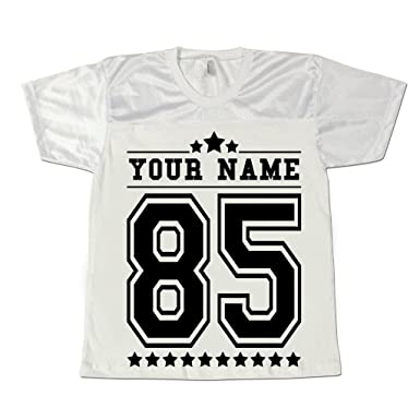 Men s Personalised American Football Jersey Shirt Stag Party Custom T-shirts  White S c52e4e043