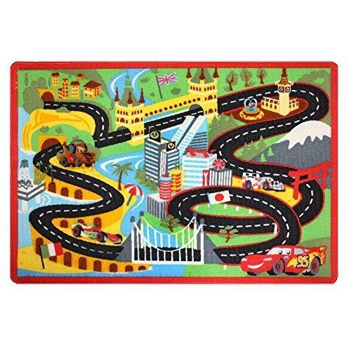 Disney Pixar Cars Racing Play Rug by G.A. Gertmenian & Sons - Disney Cars Racing Rug