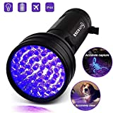 #7: Black Light UV Flashlight, ESCO LITE UV Lights 2018 Upgraded 51 LED Ultraviolet Blacklight Flashlight Pet Urine Detector,Matching with Pet Odor Eliminator