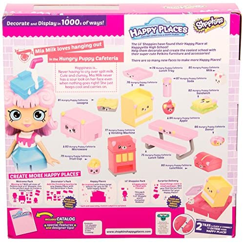 Happy Places Shopkins Season 3 Welcome Pack Hungry Puppy Cafeteria