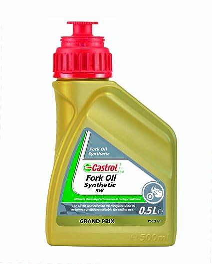Castrol 17916585 - Aceite sintético para suspensión de motocicletas (5W, 500 ml)