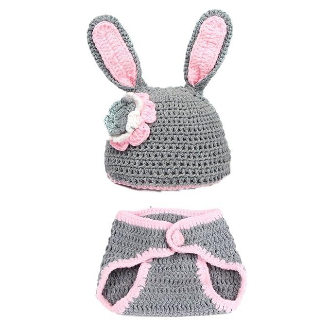 Little Sporter Baby gestrickt Kaninchen Tier Fotografie Kleidung ...