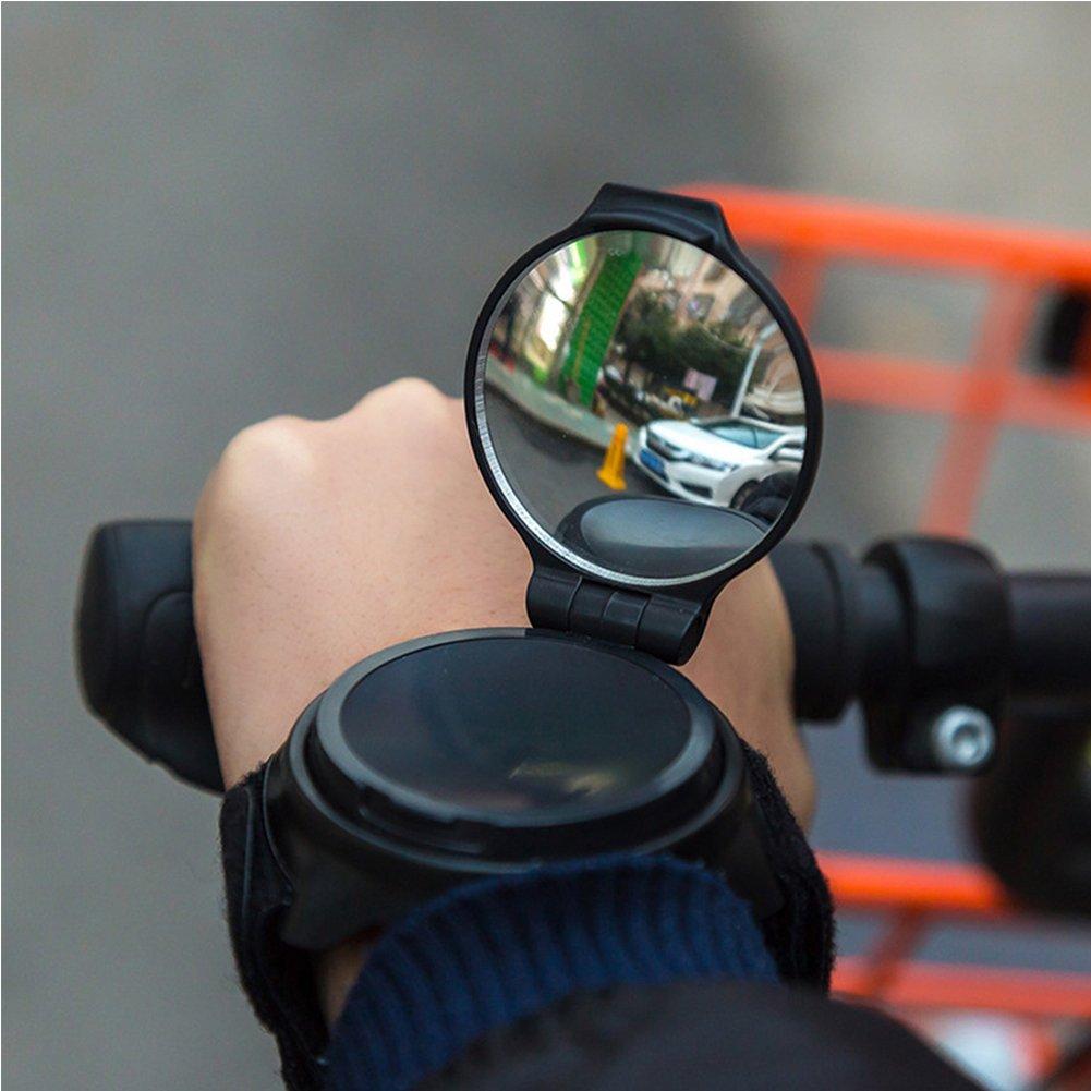 v/élo R/étroviseur Bracelet Poignet Miroir Guidon R/éflecteur Enti/èrement r/églable pour VTT V/élo de Route d/équitation de Cyclisme miroirs Lionina