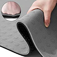TENOL JELS Exercise Mat 15mm, Extra Thick Yoga Mat Non Slip Pilates Yoga Mat with Carrying Strap, Exercise Yog
