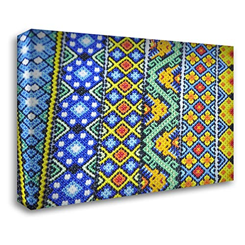 - Mexico, Jalisco Beaded Bracelets for Sale 40x28 Gallery Wrapped Stretched Canvas Art by Ross, Steve
