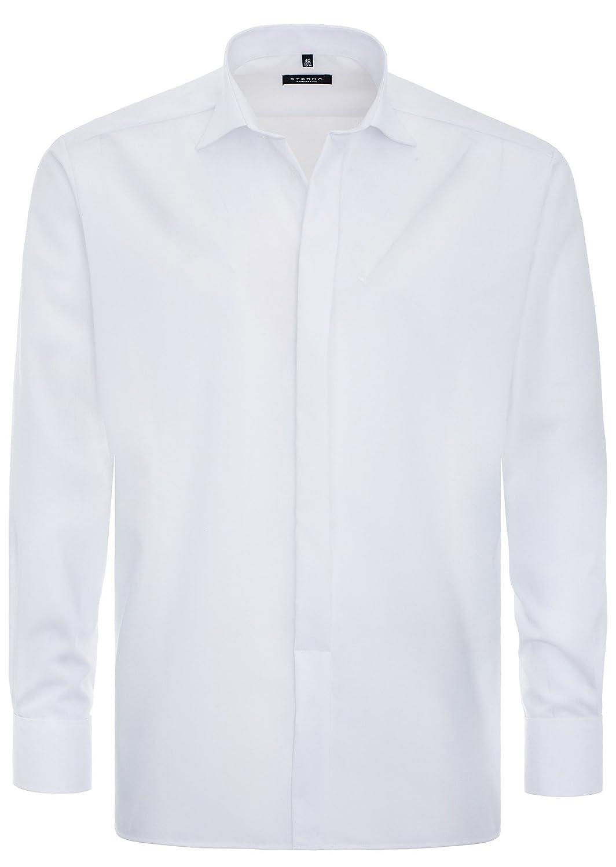 Eterna - Gala - Comfort Fit - Bügelfreies Herren Hemd mit verdeckter Knopfleiste und Kent Kragen in Weiß (8500 E387)