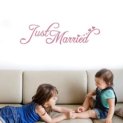 Amazon Just Married Quotes Wedding Wall Stickers Art Mural Impressive Just Married Quotes
