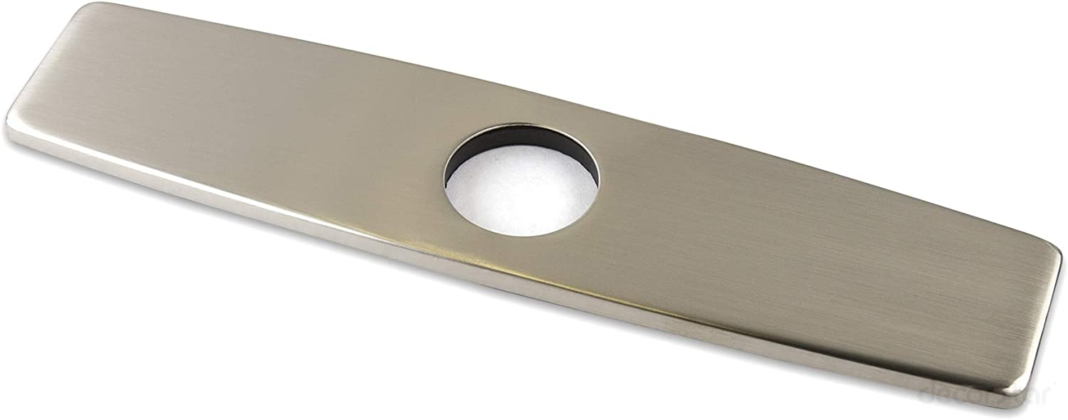 Stainless Steel Silver Kitchen /& Bathroom Sink Faucet Hole Cover Deck Plate PChn