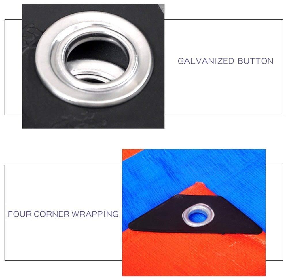 200 g//m/² Color : Orange, Size : 4MX5M espesor 0,35 mm FENGMING Lona impermeable for la cubierta del pa/ño de tierra cubiertas con azul y naranja for el aire libre