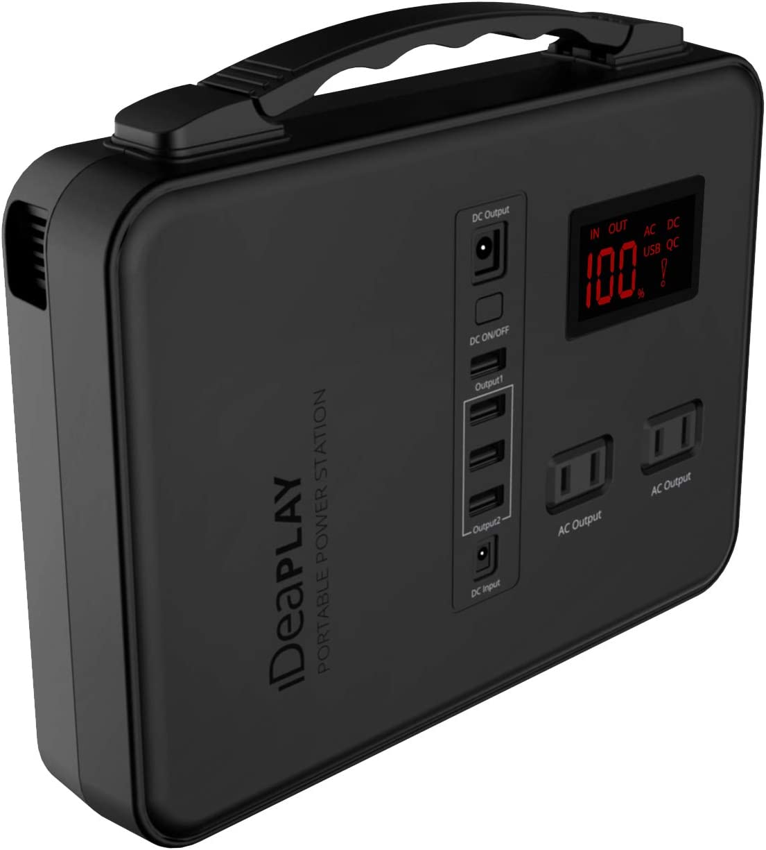 IDEAPLAY Portable Power Station Generator 150Wh, Rechargeable Emergency Backup Lithium Battery with 110V/200W AC Outlet, 12V DC Output, USB Ports, LED Flashlight, for Home Travel Camping Outdoors