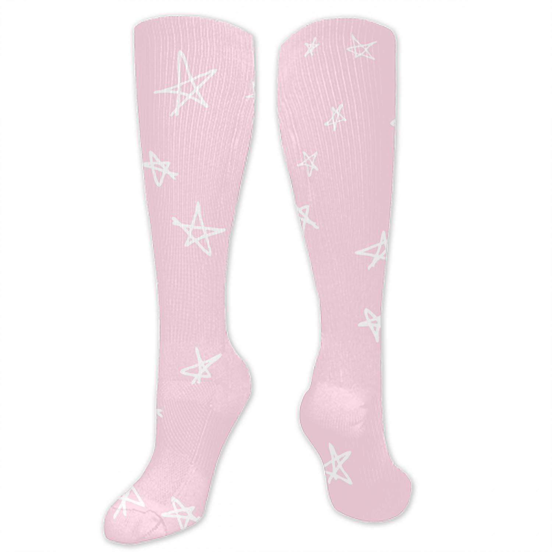 Watercolor Dots Pattern Ladies Colorful Knee High Fashion Socks