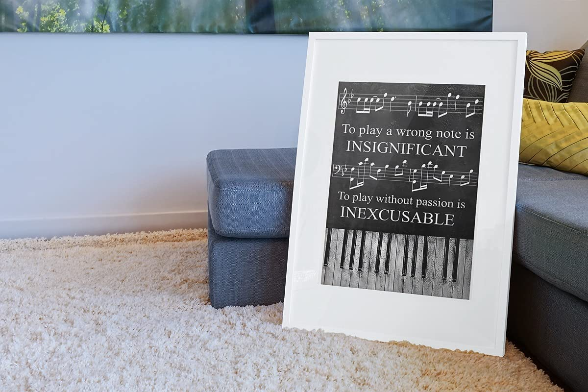 Piano to play a wrong note is insignificant to play poster