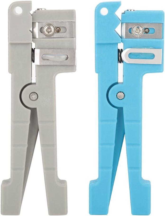 45-162 45-163 45-163 Bewinner Stripper de Chaqueta de Fibra /Óptica Herramienta de Corte de Cable Coaxial Separador de Alambre 45-162 Azul
