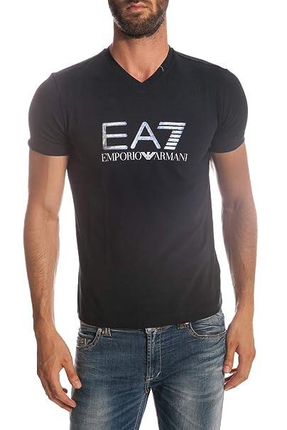 Emporio Armani EA7 Camiseta - Hombre Azul Azul: Amazon.es: Ropa y accesorios