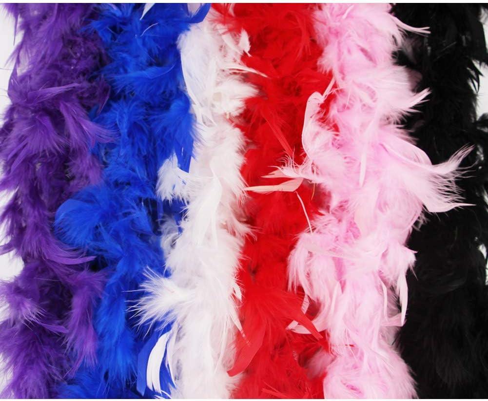 6/', 60 grams Purple Feather Boa