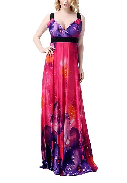 Vestido Playa Mujer para Chubby Cintura Alta Sencillos Especial Espalda Descubierta Vestidos Maxi Elegantes Moda Florales Informales Feriado Vestidos De ...