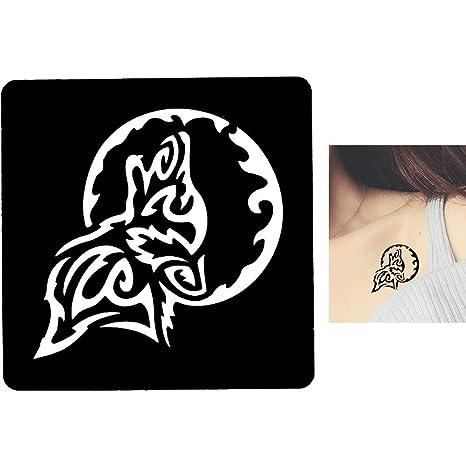 Juego de 9 plantillas cuadradas adhesivas para tatuajes con diseño ...