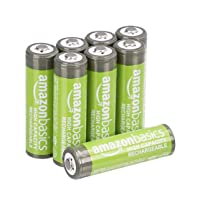 AmazonBasics AA High-Capacity Ni-MH Rechargeable Batteries (2400 mAh), Pre-charged...