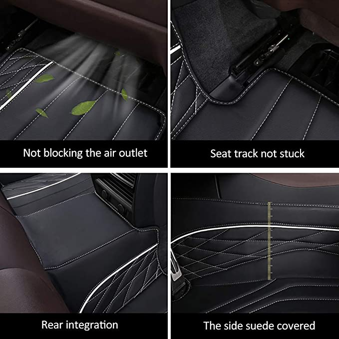 Leesville Artificial Leather Floor Mats for Lexus ES,2018 2019 XZ10 Lexus ES Floor Mats,Lexus Leather Floor Mats,Full Surrounded Waterproof Floor Mats Lexus ES Leather Mats