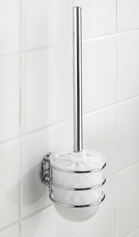 11.5x10x37.5 cm Plateado Wenko Turbo-Loc Juego para WC Acero