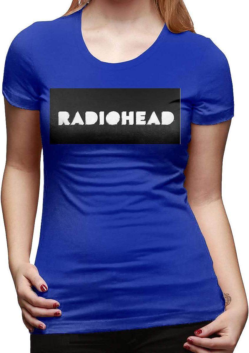 LuYiDa Design Radiohead O-Neck Funny T Shirt for Lady Black