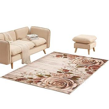 Modern Minimalist Rustic Style Flower Carpet, Living Room Coffee Table  Bedroom Carpet Home Room Bedside