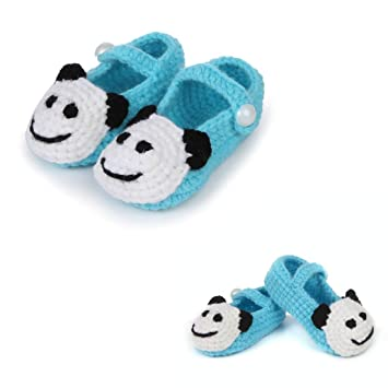 9b008699897d3 FuzzyGreen Light Blue Cute Panda Baby Newborn Infants Toddler Knitted  Prewalker Shoes Floor Socks Sandals
