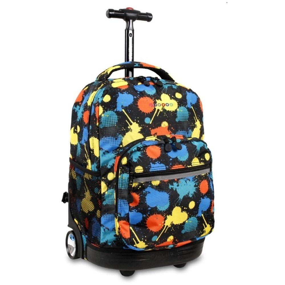 J World New York Sunrise Rolling Backpack, Splatter