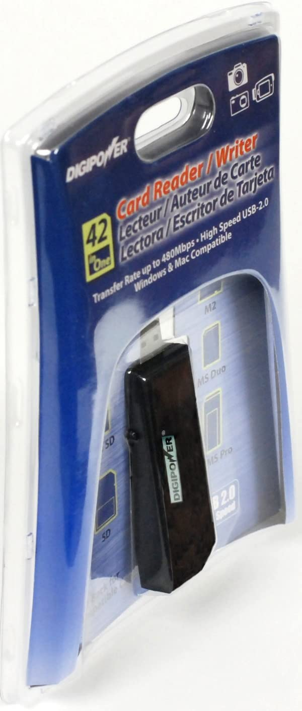 Digipower DP-CR925 42 in-1-Card Reader/Writer (4 Slot) for MS, SD, Micro SD and M2