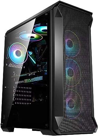 XZ15 Caja de computadora de Juego, Torre Mediana ATX, MATX, E-ATX, ITX, Soporte de refrigeración por Aire y refrigeración líquida, Vidrio Templado Negro, Adecuado for computadoras de Escritorio: Amazon.es: Hogar