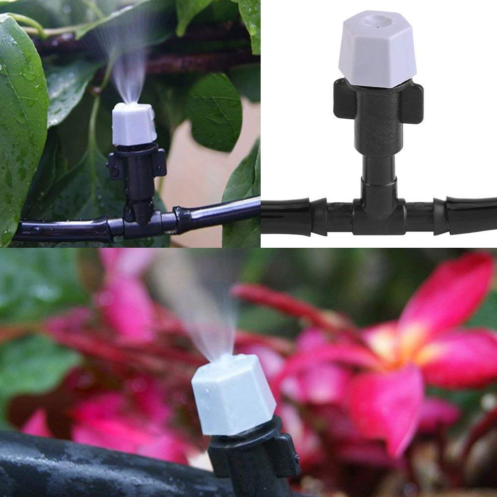 5M Misting Micro Flow Drip Irrigation Misting Adjustable Sprinkler Nozzle for Home Garden Patio Plant Flower