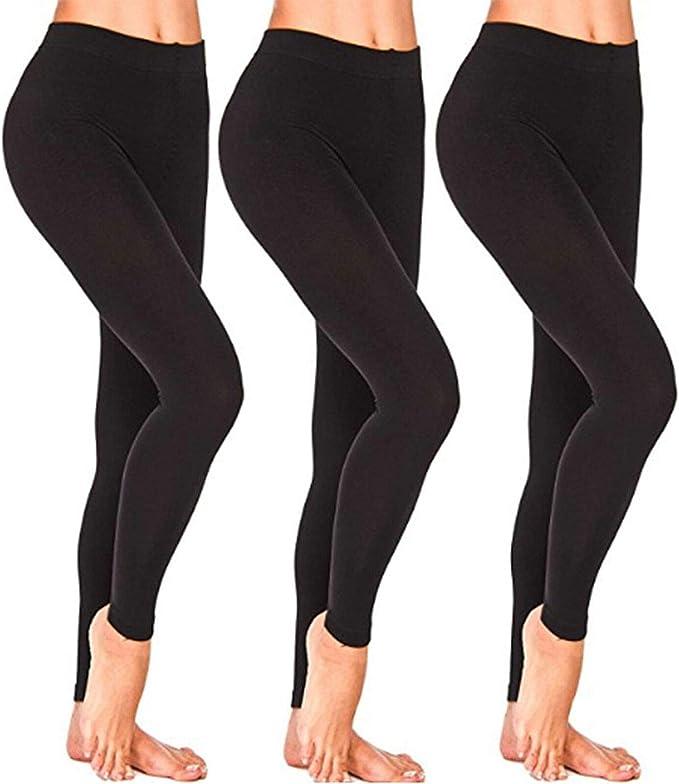 pantaloni termici a vita alta da donna alla moda invernale Etichetta in pelle, S Leggings in lana di cashmere super spessi